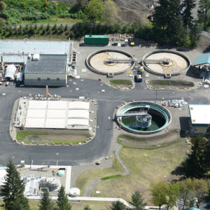 Aerial view of Wilsonville Wastewater Treatment Plant