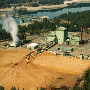 Aerial view of Avista Kettle Falls Generating Station