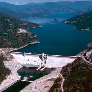 Aerial view of Montana's Libby Dam