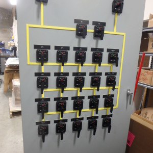 Front Panel of Powerhouse Electrical Distribution Panel