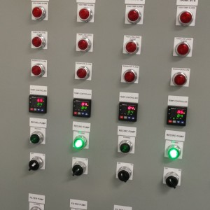 Front Panel of Pumps Controller