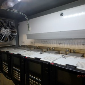 Panel interior cooling fan and VFD modules
